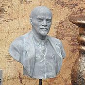Для дома и интерьера handmade. Livemaster - original item A bust of Lenin on the stand of concrete Retro style, Vintage, Loft, USSR. Handmade.