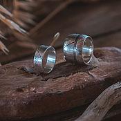 Кольца ручной работы. Ярмарка Мастеров - ручная работа Текстурное кольцо с отпечатком листика. Handmade.