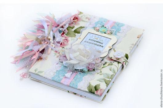 Блокноты ручной работы. Ярмарка Мастеров - ручная работа. Купить Книга А4  для записей, зарисовок и фотографий. Handmade. Бледно-розовый