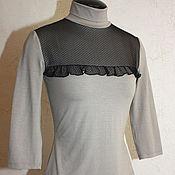 Одежда handmade. Livemaster - original item Turtleneck with mesh yoke. Handmade.