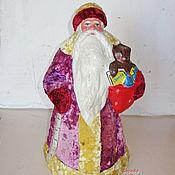 Винтаж ручной работы. Ярмарка Мастеров - ручная работа Антикварный Дед Мороз. Бумага+плюш. Handmade.