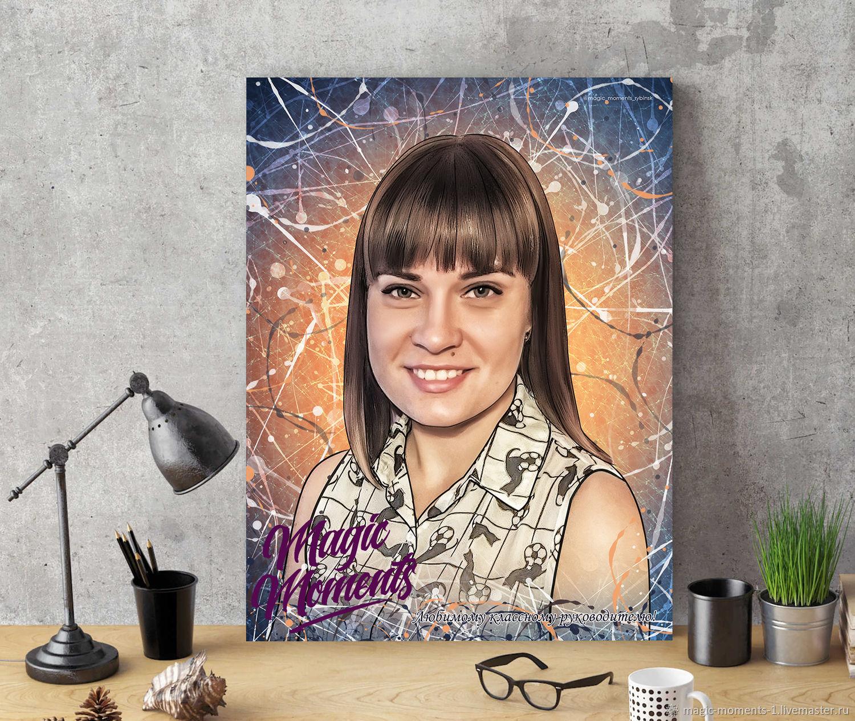 Стилизованный портрет на холсте Dream art