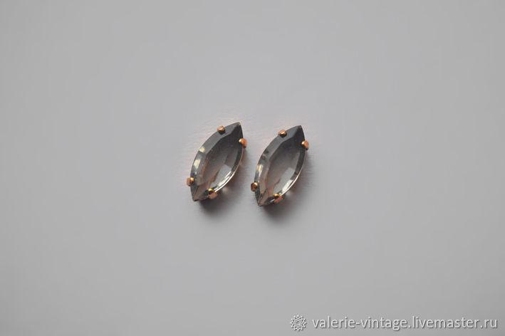 Vintage Swarovski crystal 15h7mm. color Black Diamond UF, Crystals, Moscow,  Фото №1