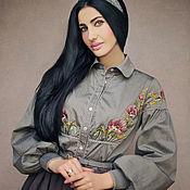 Одежда handmade. Livemaster - original item Embroidered blouse