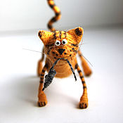 Мягкие игрушки ручной работы. Ярмарка Мастеров - ручная работа Кот с мышью. Handmade.