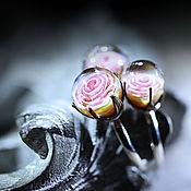 """Украшения ручной работы. Ярмарка Мастеров - ручная работа Комплект колец 17,5 """"Розочки"""". Handmade."""