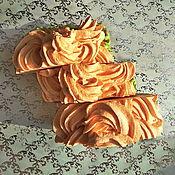 """Косметика ручной работы. Ярмарка Мастеров - ручная работа """"Ванильно-персиковый кекс"""", шелковое мыло. Handmade."""