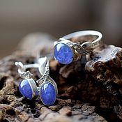 Украшения handmade. Livemaster - original item TANZANITE. Set: ring and earrings. Handmade.