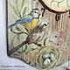 """Часы для дома ручной работы. Ярмарка Мастеров - ручная работа. Купить Часы """"Птичьи трели"""" из сосны. Handmade. Весна, обжиг"""