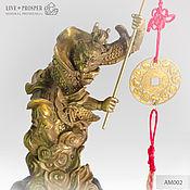 Фен-шуй и эзотерика handmade. Livemaster - original item Bronze monkey king with a rod of plenty /East lunar calendar. Handmade.