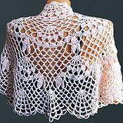 Аксессуары handmade. Livemaster - original item Shawl knit drape shawl crocheted. Handmade.