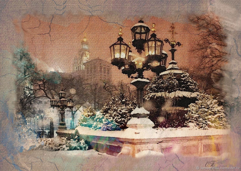 Зима в городе. Автор, Светлана Прокопенко, Фотокартины, Сочи, Фото №1