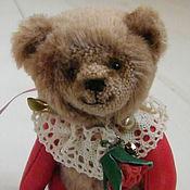 Куклы и игрушки ручной работы. Ярмарка Мастеров - ручная работа мишка тедди с кожаными лапками. Handmade.