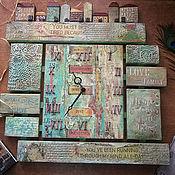 Для дома и интерьера handmade. Livemaster - original item Wall clock You must be tired because... Decoupage clock. Handmade.