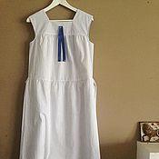 """Одежда ручной работы. Ярмарка Мастеров - ручная работа % Платье """"Паром из Одессы"""" в синюю полосочку. Handmade."""