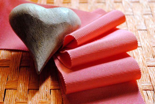 """Шитье ручной работы. Ярмарка Мастеров - ручная работа. Купить Репсовая лента  хлопок с вискозой """"Коралл"""" (Италия) ШИРОКАЯ. Handmade."""