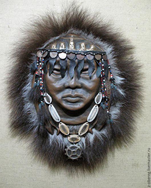 Интерьерные  маски ручной работы. Ярмарка Мастеров - ручная работа. Купить Маска Шаман. Handmade. Шаман, бубен, шаманка, медведь