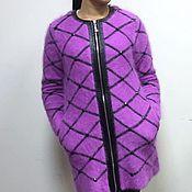 Одежда ручной работы. Ярмарка Мастеров - ручная работа Лиловое пальто на молнии. Handmade.