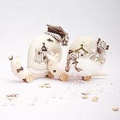 Куклы Тильда ручной работы. Ярмарка Мастеров - ручная работа Свадебные улитки. Handmade.