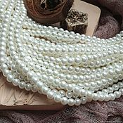 Материалы для творчества handmade. Livemaster - original item Thread Beads glass pearl 3,4,6,8 mm (art. 3256). Handmade.