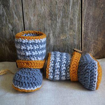 Обувь ручной работы. Ярмарка Мастеров - ручная работа Пинетки вязаные угги. Handmade.