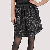 Одежда handmade. Livemaster - original item The skirt is cotton black gray with an elastic band thick. Handmade.