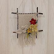 Картины и панно handmade. Livemaster - original item Pano macrame Flowering. Handmade.