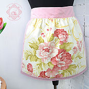 Для дома и интерьера handmade. Livemaster - original item Short apron Rose bouquet. Handmade.