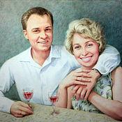 Картины и панно handmade. Livemaster - original item Family portrait a dry brush.. Handmade.