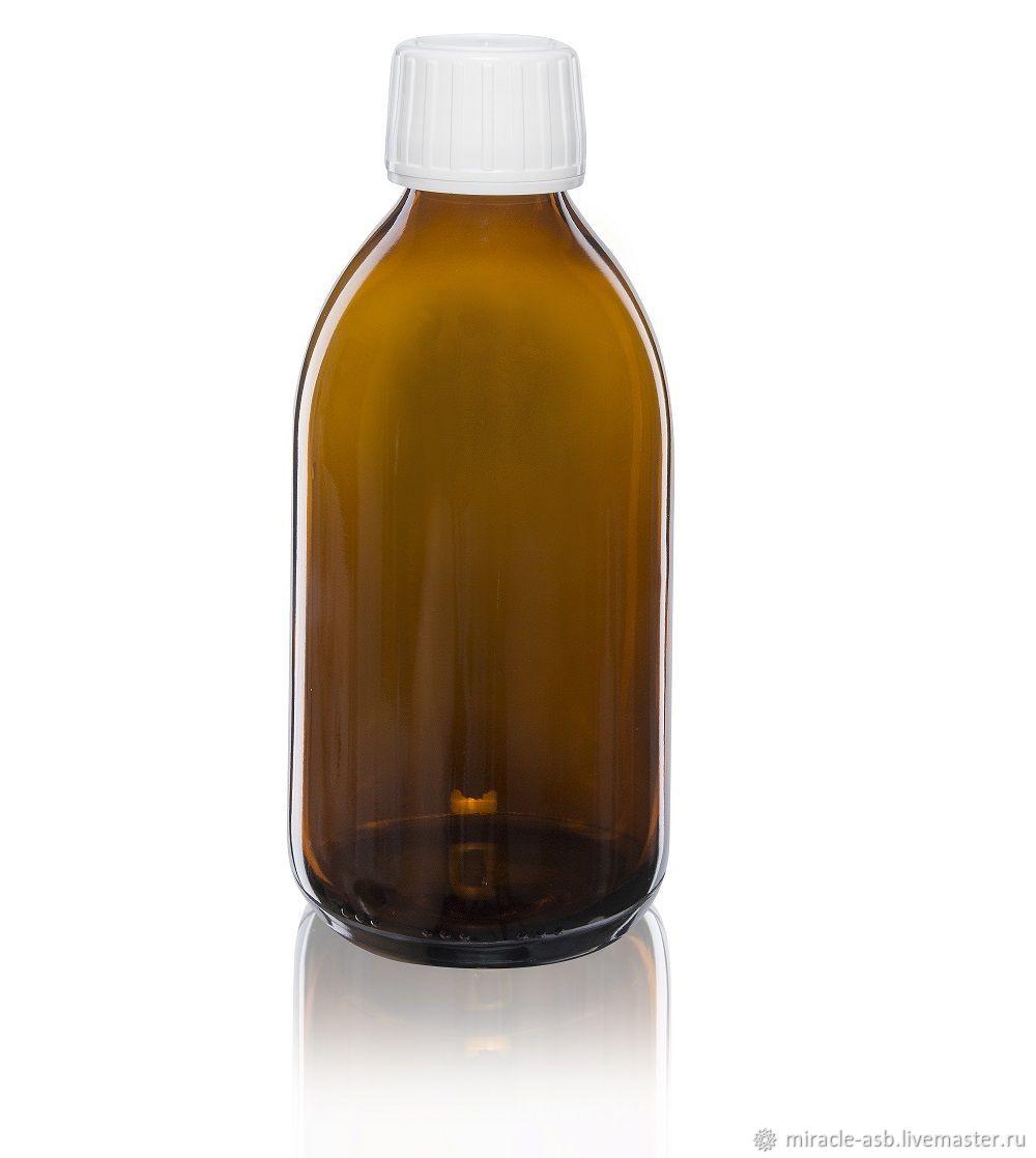 Флакон коричневое стекло 250мл, Упаковка, Асбест, Фото №1