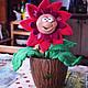 """Персональные подарки ручной работы. Ярмарка Мастеров - ручная работа. Купить Подарок на 8 марта игрушка войлочная """"Волшебный цветок"""". Handmade."""
