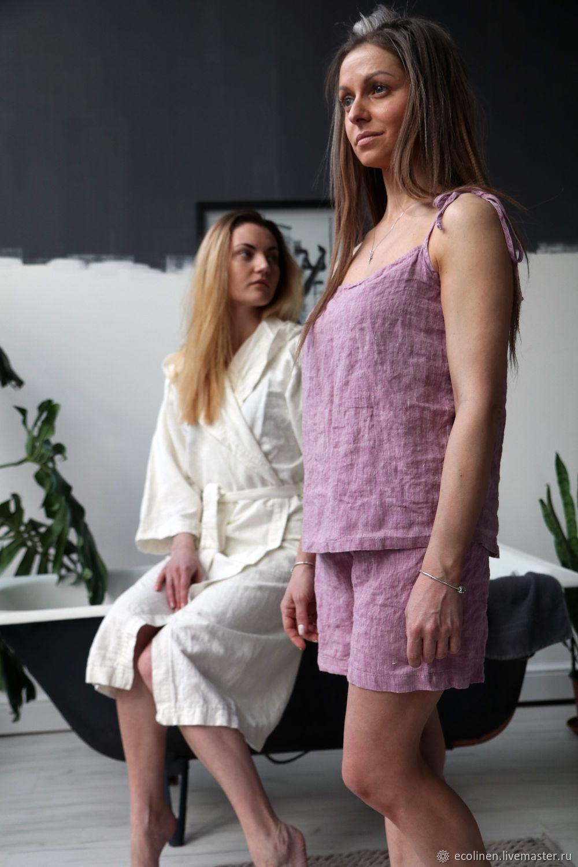 Linen pajamas. 100% linen. Softened. Ties, Combination, Minsk,  Фото №1