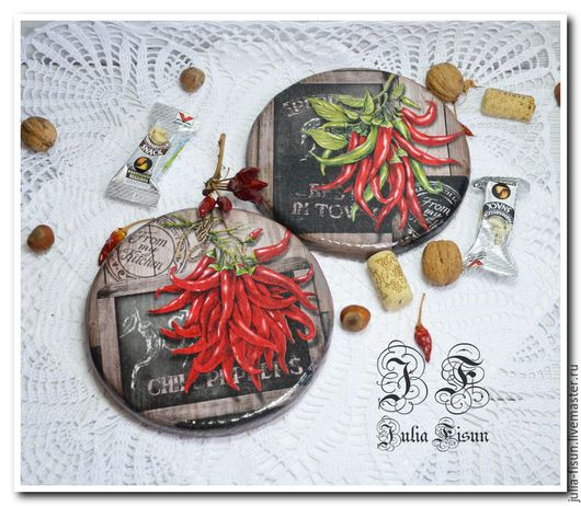 """Кухня ручной работы. Ярмарка Мастеров - ручная работа. Купить Сырные  досочки """"Chili Peppers"""". Handmade. Кухонный интерьер"""