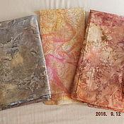 Материалы для творчества ручной работы. Ярмарка Мастеров - ручная работа ткани хлопок батик  США комплект. Handmade.