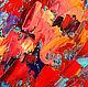 """Картина маки павлин """"Гордая Стать"""" холст, масло. Картины. ЯРКИЕ КАРТИНЫ Наталии Ширяевой. Ярмарка Мастеров. Фото №4"""
