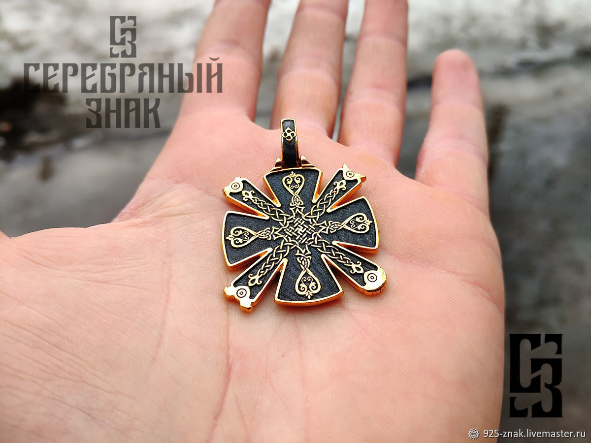 Talisman Cres Bilateral. Gilding 999 and 925 silver art.Three million eleven thousand six hundred th, Pendants, St. Petersburg,  Фото №1