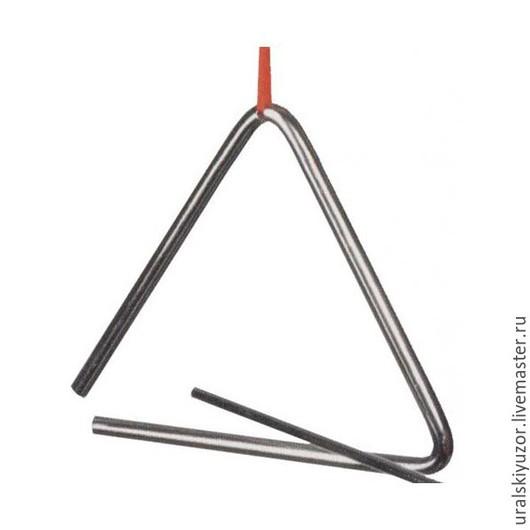 Ударные инструменты ручной работы. Ярмарка Мастеров - ручная работа. Купить Музыкальный треугольник. Handmade. Музыкальный треугольник, музыкальный инструмент