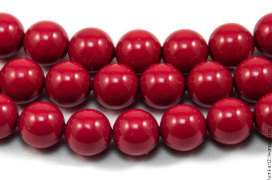 Для украшений ручной работы. Ярмарка Мастеров - ручная работа. Купить 6мм Red Coral Жемчуг Сваровски 718 Swarovski Perl 20 шт. Handmade.