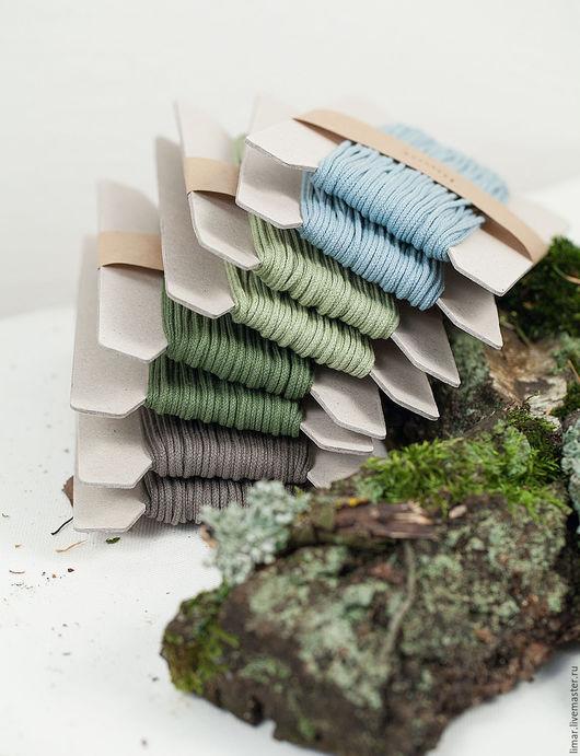 """Шитье ручной работы. Ярмарка Мастеров - ручная работа. Купить Хлопковый шнур """"Лесной мох"""", 2 мм. Handmade. Шнур"""
