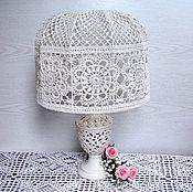 Для дома и интерьера handmade. Livemaster - original item Lace lampshade for a table lamp, crocheted. Handmade.