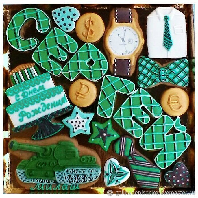 Gingerbread Birthday. Set of cakes for men, Gingerbread Cookies Set, Rostov-on-Don,  Фото №1