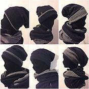 Аксессуары ручной работы. Ярмарка Мастеров - ручная работа комплект шапка бини и снуд. Handmade.