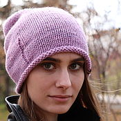 Caps handmade. Livemaster - original item Knitted cap Holes. Handmade.