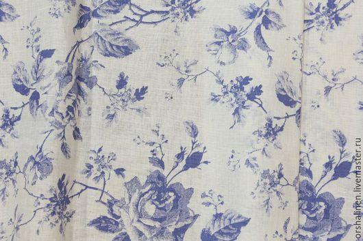 """Шитье ручной работы. Ярмарка Мастеров - ручная работа. Купить Ткань для постельного белья """"УТРО"""". Handmade. Голубой, белорусский лен"""