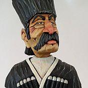 """Подарки к праздникам handmade. Livemaster - original item """"Джигит"""" - декоративная пробка для бутылки, на подставке.. Handmade."""