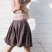 Одежда ручной работы. Ярмарка Мастеров - ручная работа Серая батистовая юбка. Handmade.