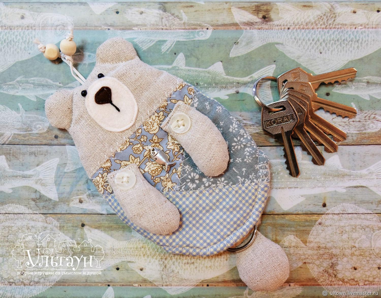 Ключницы с хвостиком из ткани Умка и Белый Кот
