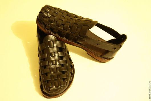 """Обувь ручной работы. Ярмарка Мастеров - ручная работа. Купить Сандалии """"Мини Гладиатор"""". Handmade. Черный, сандалии ручной работы"""