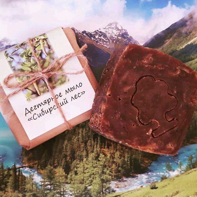 """Дегтярное мыло """"Сибирский лес"""", Мыло, Иркутск,  Фото №1"""