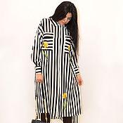 """Одежда ручной работы. Ярмарка Мастеров - ручная работа Дизайнерское платье-рубашка""""Нарцисс"""". Handmade."""